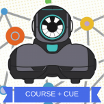 Wonder Workshop PD Bundle: Introduction to Coding and Robotics with Cue (Course and Cue Robot)