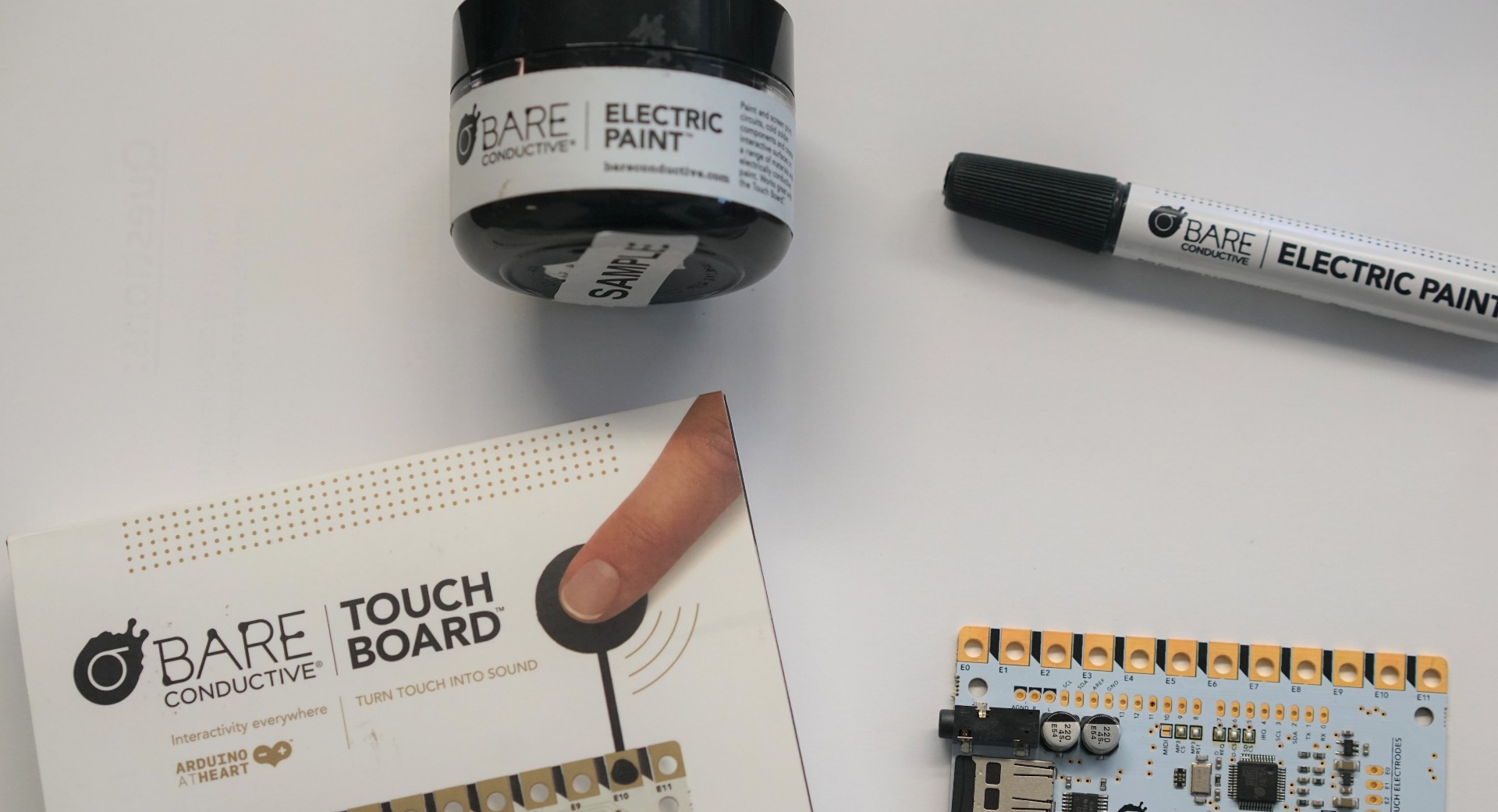 eduporium experiment bare conductive touch boardi would highly suggest buying a bare conductive stencil as it saves a lot of time for students when setting up their sensors and makes the final product