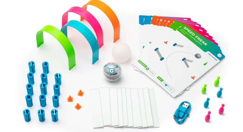 sphero mini activity kit accessories bridges activity cards usb cables and pins