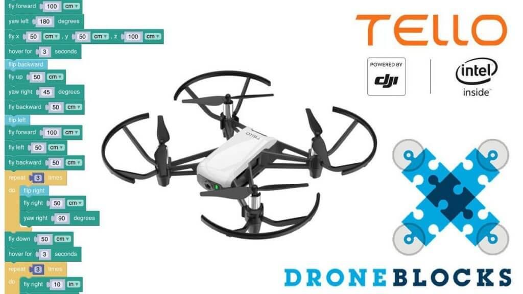 droneblocks app with the tello edu drone