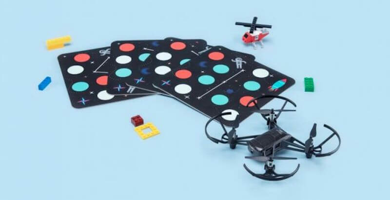 tello edu drone with launch pads and propellor accessories